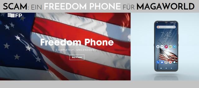 Scam - Freedomm Phone für MAGAworld - Logo